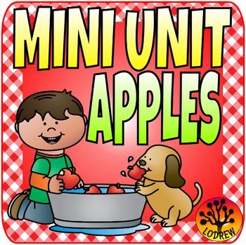 Apple Centers Math Literacy Kindergarten Preschool SPED ECE