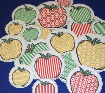 Apple Centers Visual Discrimination Kindergarten Preschool SPED ECE