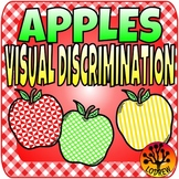 Apple Centers Visual Discrimination Kindergarten Preschool