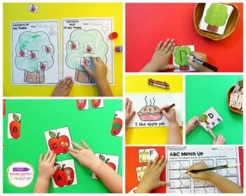 Apple Centers and Activities for Pre-K/Kindergarten