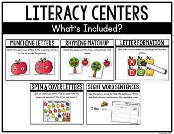 Apple Centers for Kindergarten