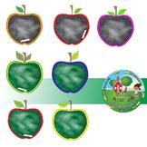 Apple Chalkboard Clipart