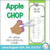 Apple Chop: No-Prep Articulation Craft