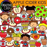 Apple Cider Kids Clipart {Fall Clipart}
