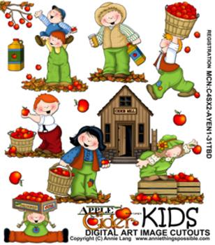 Apple Cider Kids Clipart