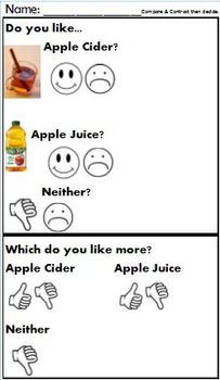 Apple Cider vs. Apple Juice Tasting Survey