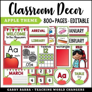 Apple Theme Classroom Decor