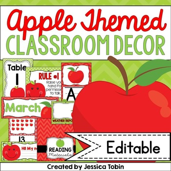 Apple Theme Decor, Apple Classroom Decor