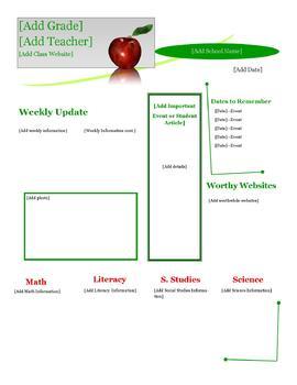 Apple Classroom Newsletter Template