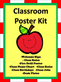 Classroom Poster Set- Apples
