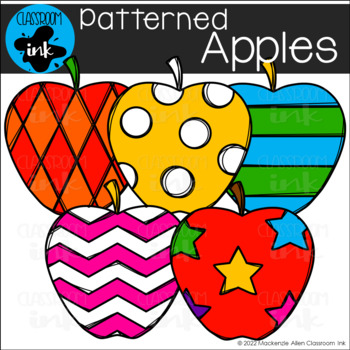 Patterned Apples Clip Art