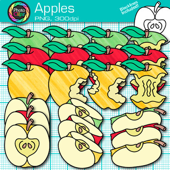 Apple Clip Art {Back to School Graphics for Autumn and Sequencing Ideas}