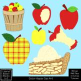 Apple Clip Art Color PNG 300 dpi Fall Autumn Apples