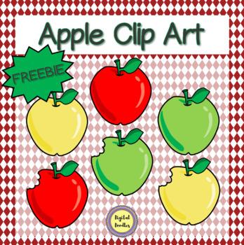 Apple Clip Art FREEBIE