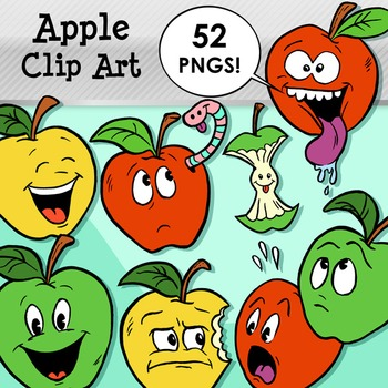 Apple Clip Art Pack! 52 PNG Images for Commercial Use