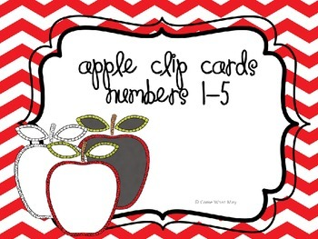 Apple Clip Cards Numbers 1-5