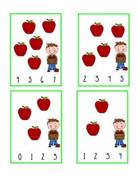 Apple Clip Math Center