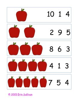 Apple Clip and Count 1-10