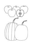 Apple and Pumpkin Clipart