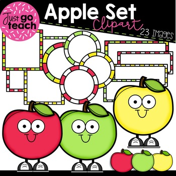 Apple Friends and Frames {Clipart}