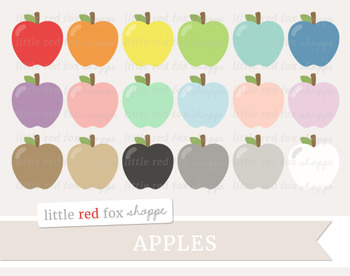 Apple Clipart; Fruit, Produce