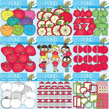 Apple Clipart Mega Pack