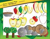 Apple Clipart Mega Pack - 45 Items