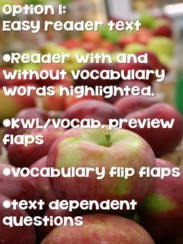 Apple Close Reading Pack