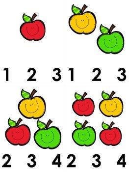 Apple Clothespin Math Station