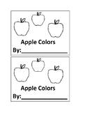 Apple Color Book Emergent Reader book for Preschool or Kin
