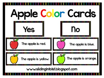 Apple Color Cards