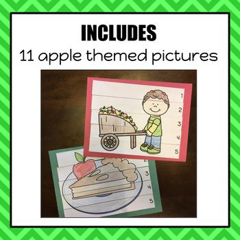 Apple Color, Cut and Glue Puzzles