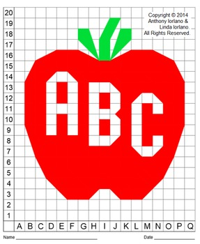 Apple, Back to School, Color Grid