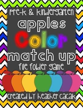 Apple Color Match & Sort Identification File Folder Game