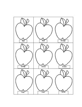 Apple Color Memory Game