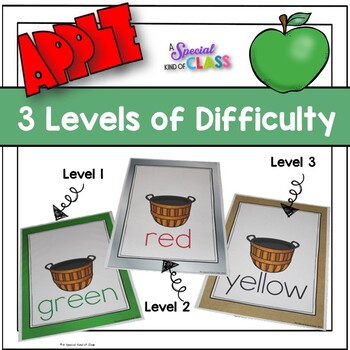 Differentiated Apple Color Sort for Fall - Aligned to Common Core