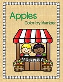 Apple Color by Number