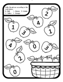 Apple Counting Numbers Apple 0-9 Apple Color by Number Apple Apple Math Center