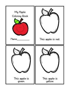 Apple Coloring Mini-Book