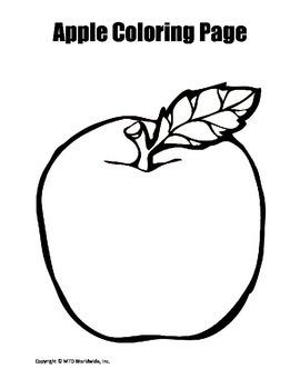 Apple Coloring Page Bundle By Lesson Machine Teachers Pay Teachers