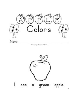 Apple Colors - Guided Reading - Student Book - Sight Words