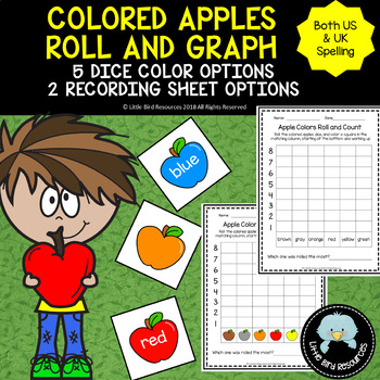 Apple Colors Roll, Count and Graph Activity