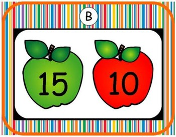 Apple Comparing Numbers 0-19 Bundle