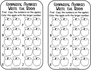 Apple Comparing Numbers 0-9
