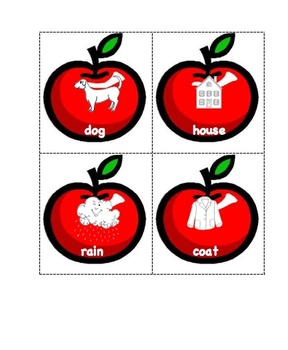 Apple Compound Word Cards