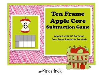 Apple Core Subtraction Math Game