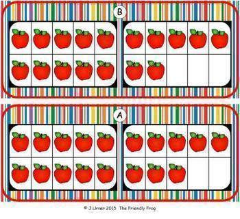 Apple Count, Add & Subtract Bundle with 10 & 20 Frames {Subitizing}