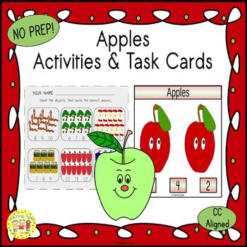 Apples Clip Task Cards