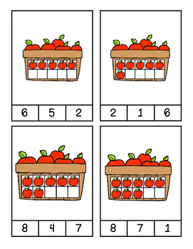 Apple Count & Clip cards