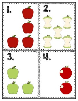 Apple Count the Room With Recording Sheet